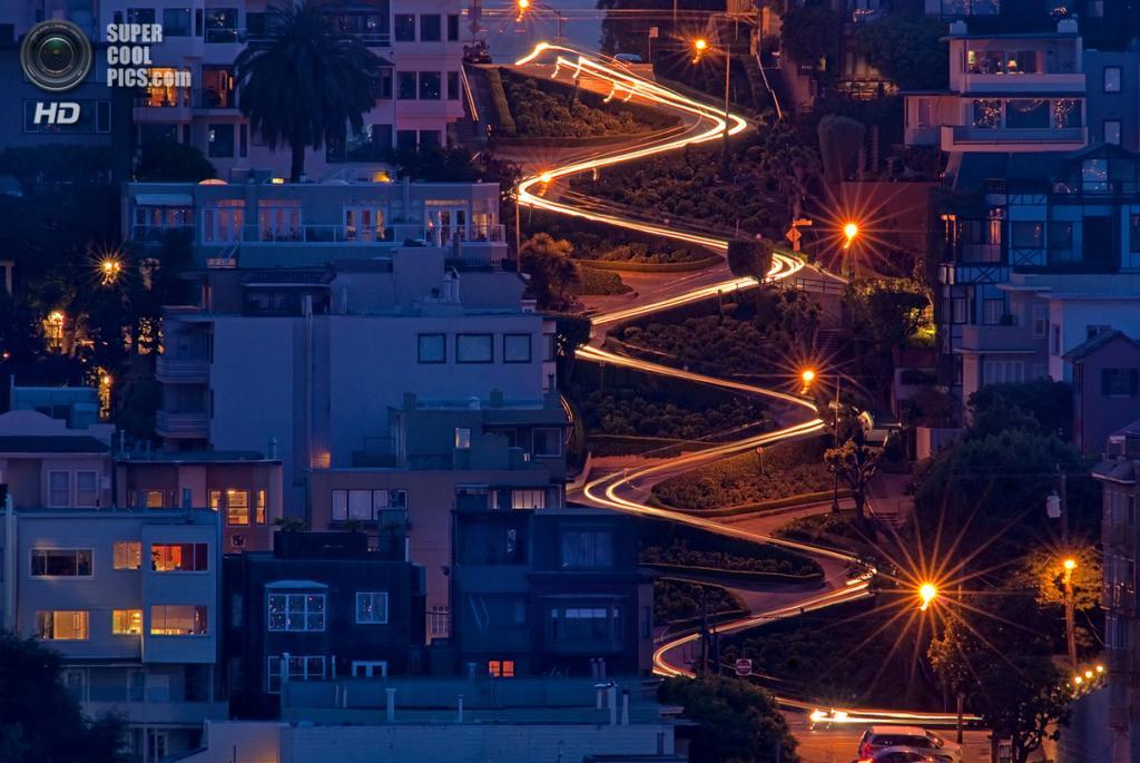 США. Сан-Франциско, Калифорния. Ломбард-стрит. (Sean Arbabi)