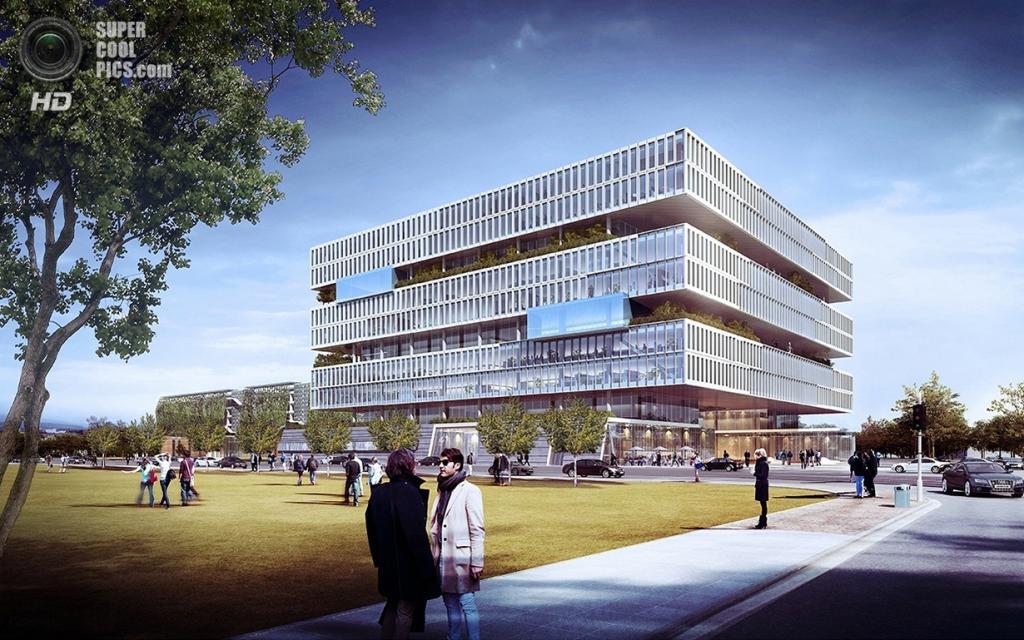 Рендеры будущей штаб-квартиры Samsung. (CRYSTAL CG/NBBJ)