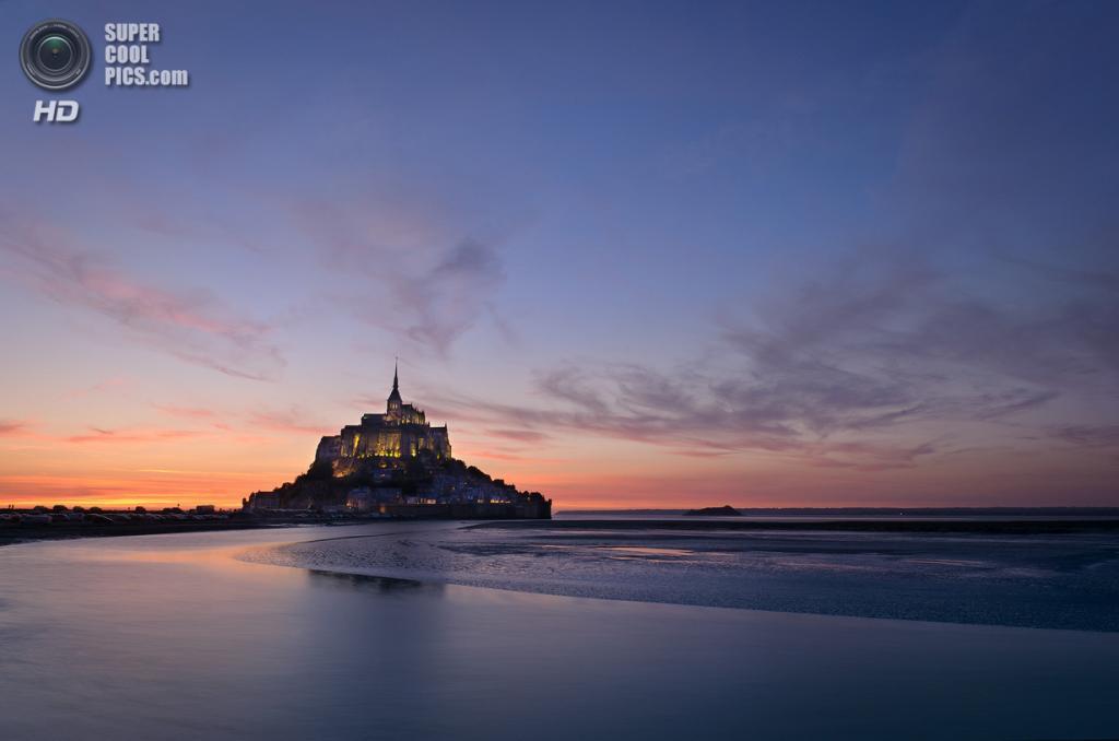Франция. Манш, Нормандия. Остров-крепость Мон-Сен-Мишель. (Dariusz W)