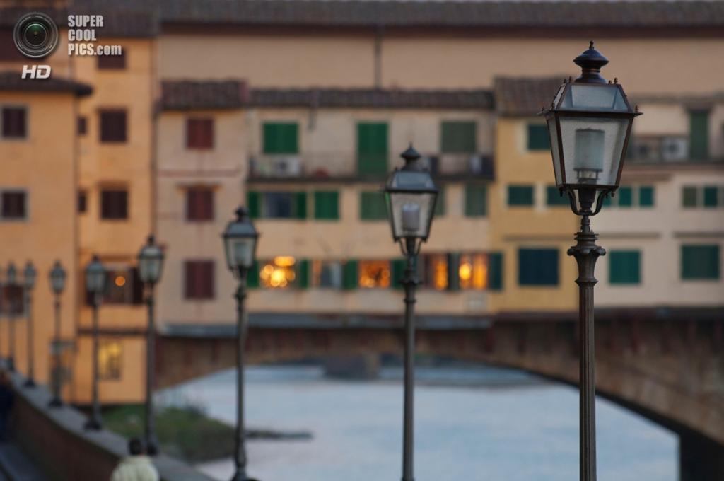 Италия. Флоренция, Тоскана. Мост Понте-Веккьо. (SUFlorence)