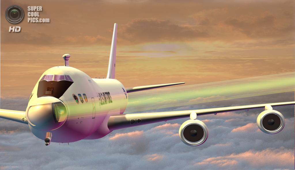 Художественное представление того, как стреляет Boeing YAL-1. (Mike Casad)