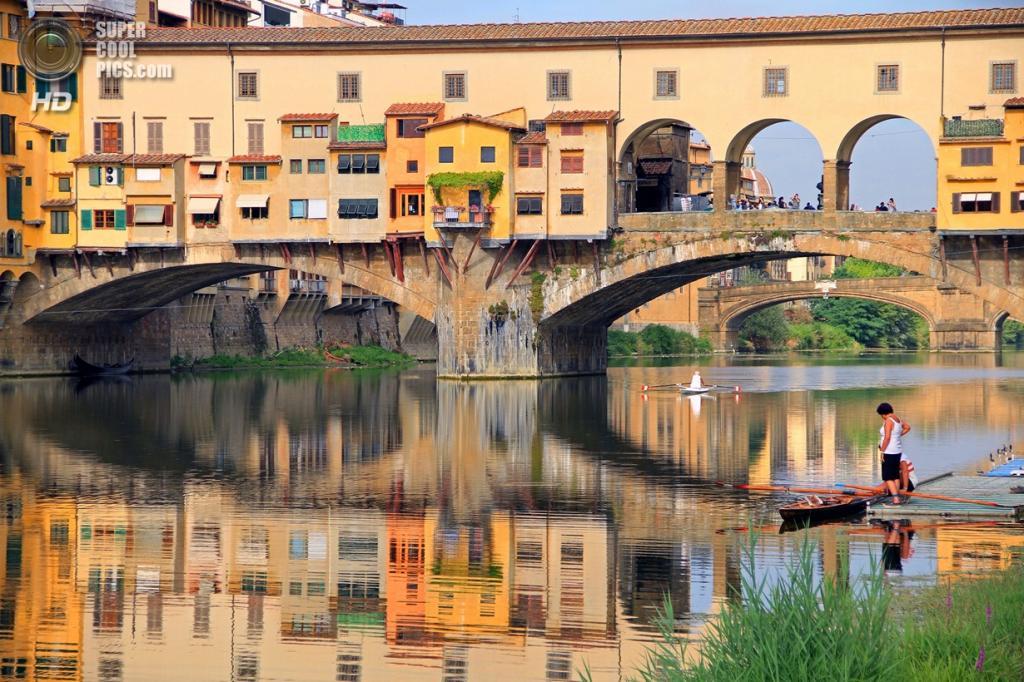 Италия. Флоренция, Тоскана. Мост Понте-Веккьо. (Kent Capture)