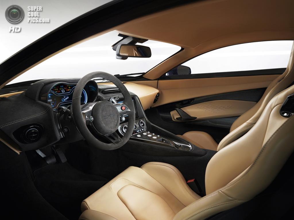 Салон Jaguar C-X75 Prototype. (Jaguar Land Rover Ltd.)