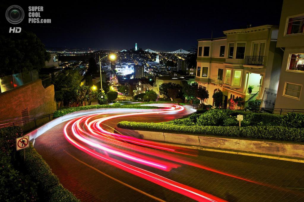 США. Сан-Франциско, Калифорния. Ломбард-стрит. (Dasha Savelyeva)