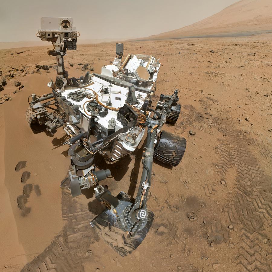 Марс. 31 октября 2012 года. Автопортрет «Кьюриосити». (NASA/JPL-Caltech)