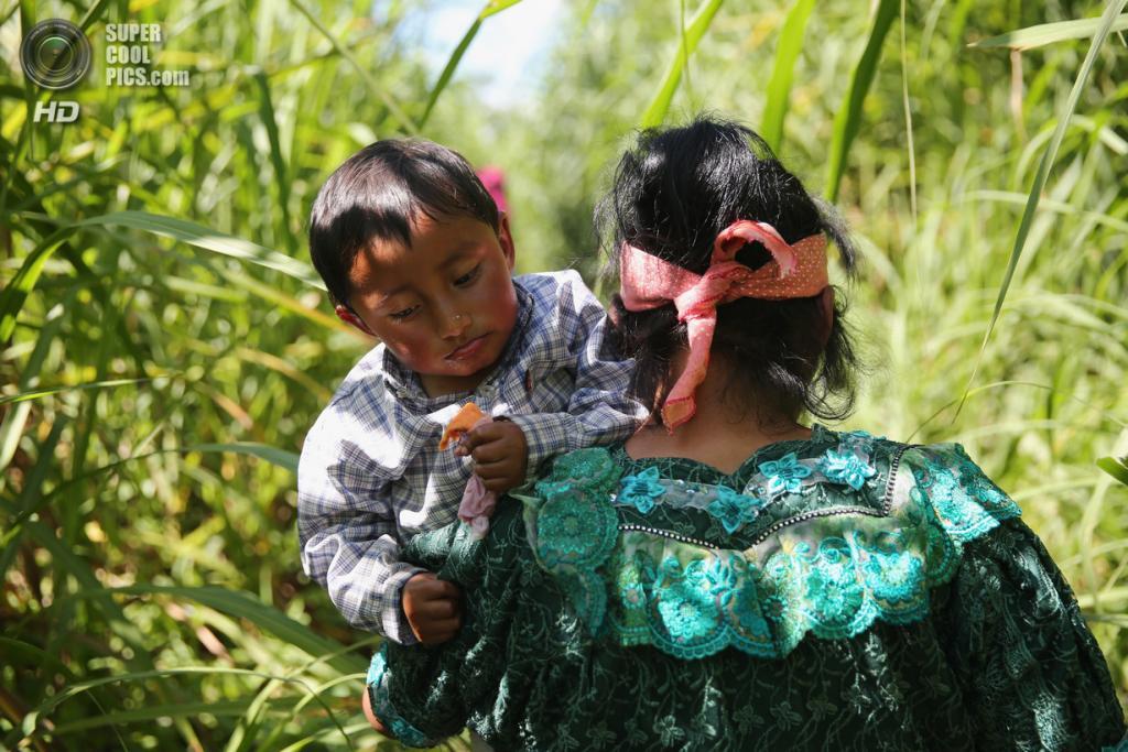 Мексика. Талисман, Чьяпас. 1 августа. Гватемальская семья после нелегального пересечения границы на реке Сучьяте. (John Moore/Getty Images)