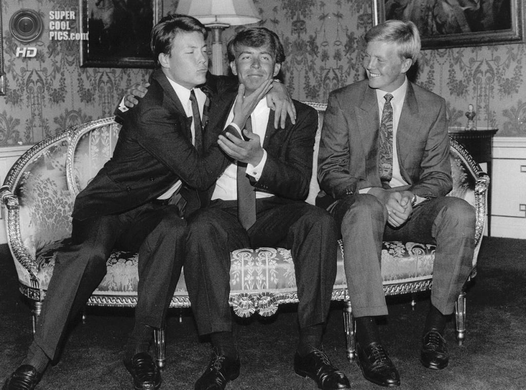 1990 год. Принцы Константин, Фризо и Виллем-Александр. (ANP PHOTO ROYAL IMAGES)