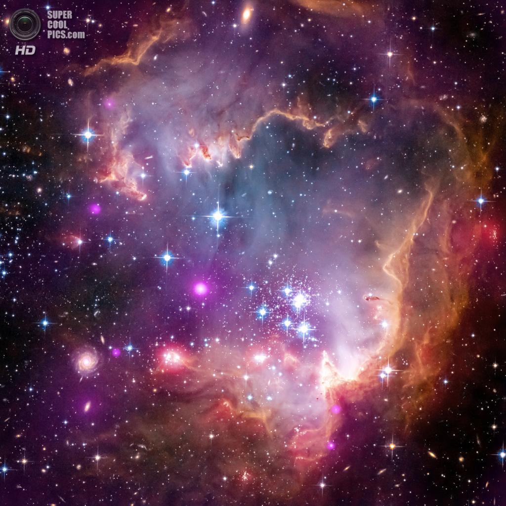 Карликовая галактика Малое Магелланово Облако. (X-ray: NASA/CXC/Univ.Potsdam/L.Oskinova et al; Optical: NASA/STScI; Infrared: NASA/JPL-Caltech)