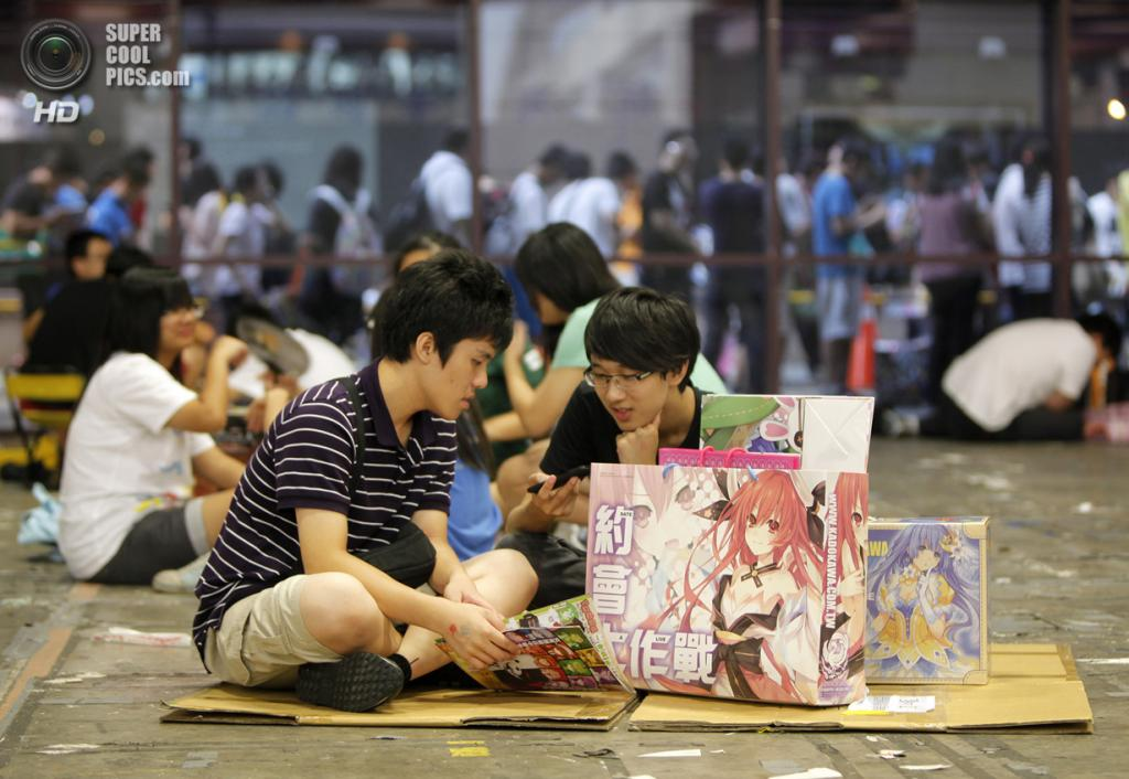 Тайвань. Тайбэй. 15 августа. На ежегодном съезде любителей комиксов, аниме и манги в Тайбэйском всемирном торговом центре. (Ashley Pon/Getty Images)