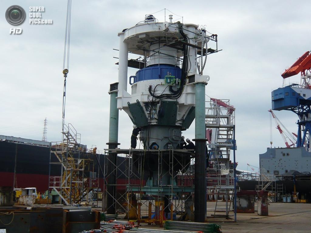 Гондола гибридной ветроприливной турбины SKWID. (MODEC)