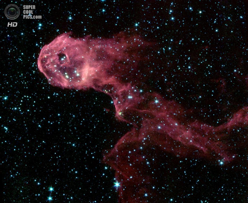 Туманность Хобот Слона. (NASA/JPL-Caltech)