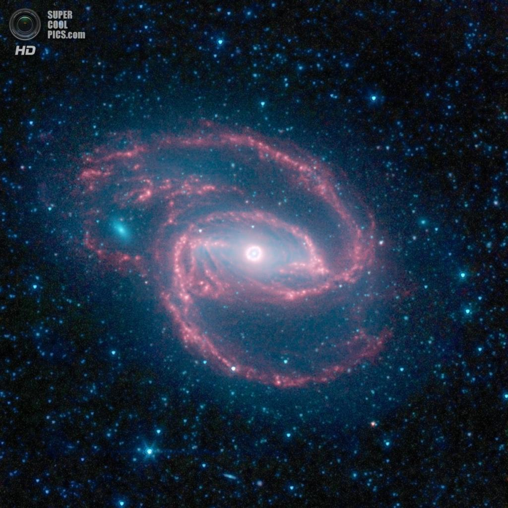Галактика NGC 1097. (NASA/JPL-Caltech/The SINGS Team (SSC/Caltech))