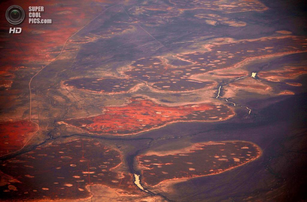 Австралия. Северная территория. 15 июля. Небольшая река среди песчаных дюн пустыни Танами. (REUTERS/David Gray)