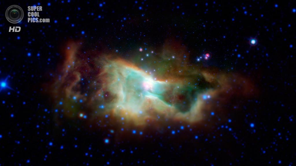 Туманность Ирис. (NASA/JPL-Caltech)