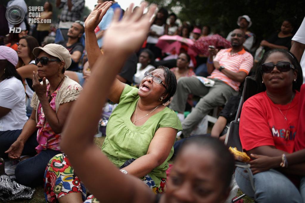 США. Вашингтон. 28 августа. Во время 50-й годовщины «Марша на Вашингтон за труд и свободу». (Chip Somodevilla/Getty Images)