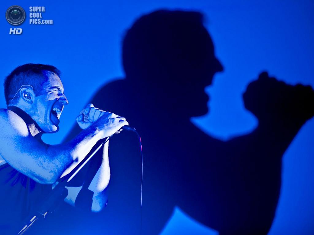 Нидерланды. Биддингхёйзен, Флеволанд. 16 августа. Фронтмен американской индастриал-группы Nine Inch Nails Трент Резнор. (NRC/Andreas Terlaak)