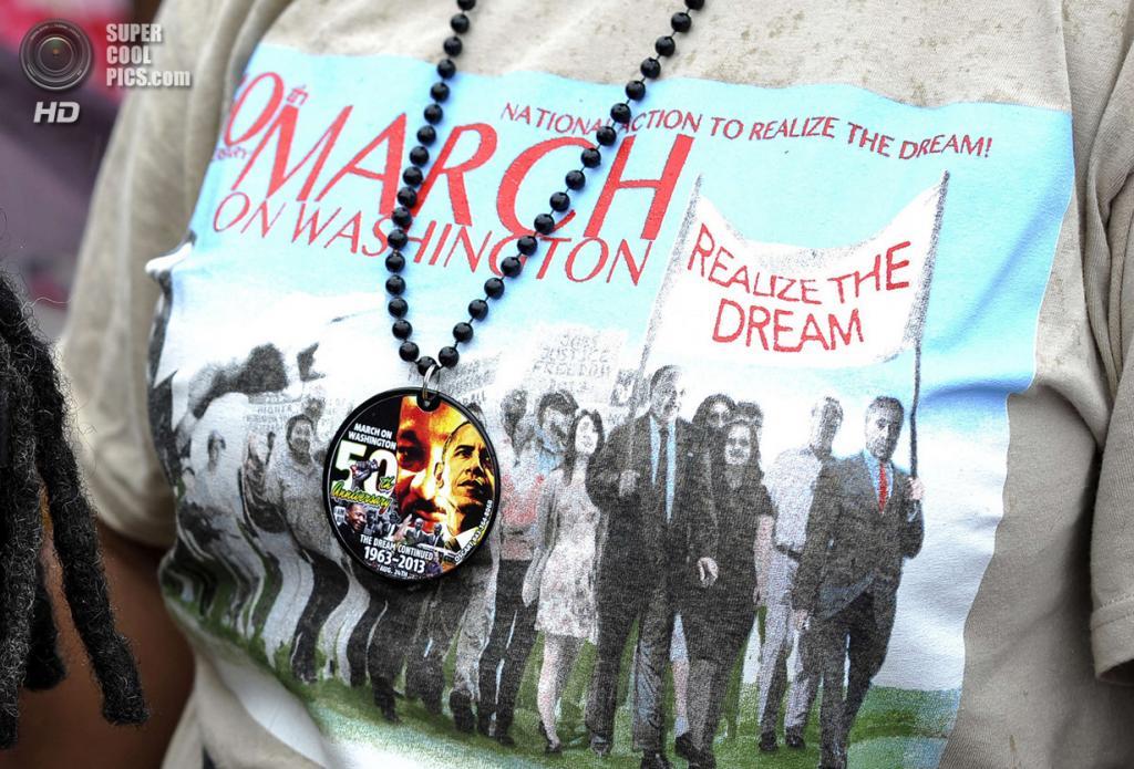 США. Вашингтон. 28 августа. Во время 50-й годовщины «Марша на Вашингтон за труд и свободу». (Jewel Samad/Getty Images)