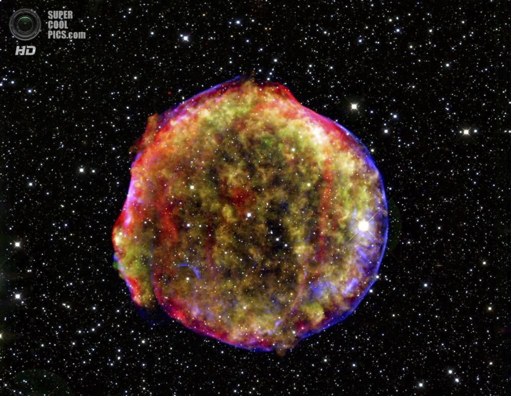 Сверхновая Тихо Браге. (MPIA/NASA)