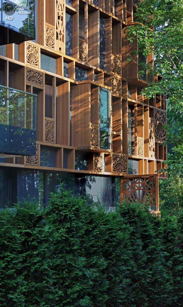 Латвия. Юрмала, Видземе. Дом The Home по проспекту Дзинтари, 32, спроектированный SZK/Z Architects. (Martin Kudryavcev)