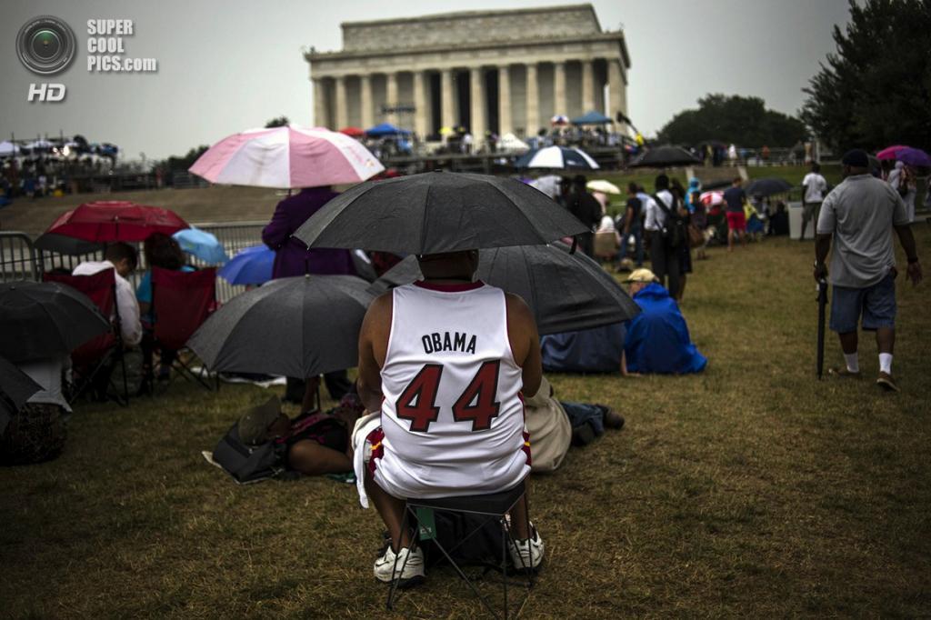 США. Вашингтон. 28 августа. Во время 50-й годовщины «Марша на Вашингтон за труд и свободу». (REUTERS/James Lawler Duggan)