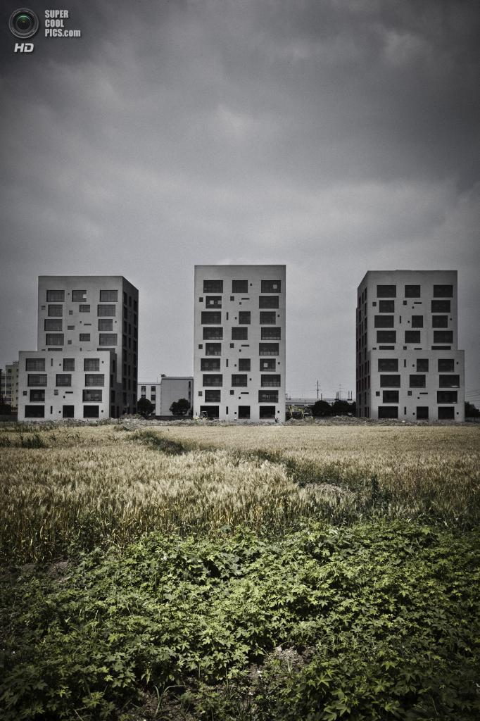 Китай. Сучжоу, Цзянсу. Офисный комплекс Haokang, спроектированный Archiplein. (Frédéric Henriques)