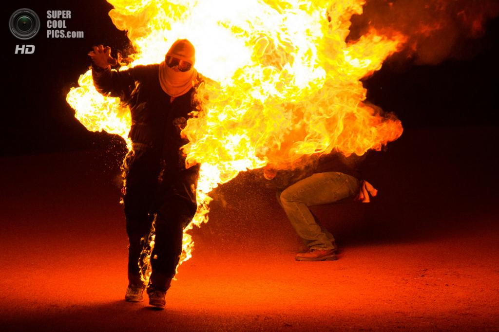 США. Невада. Пустыня Блэк-Рок. Во время фестиваля Burning Man 2013. (Matt Kerr)