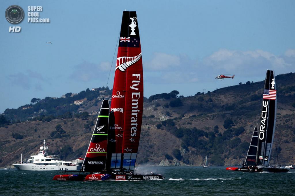 США. Сан-Франциско, Калифорния. 25 сентября. Кубок Америки 2013. (Justin Sullivan/Getty Images)