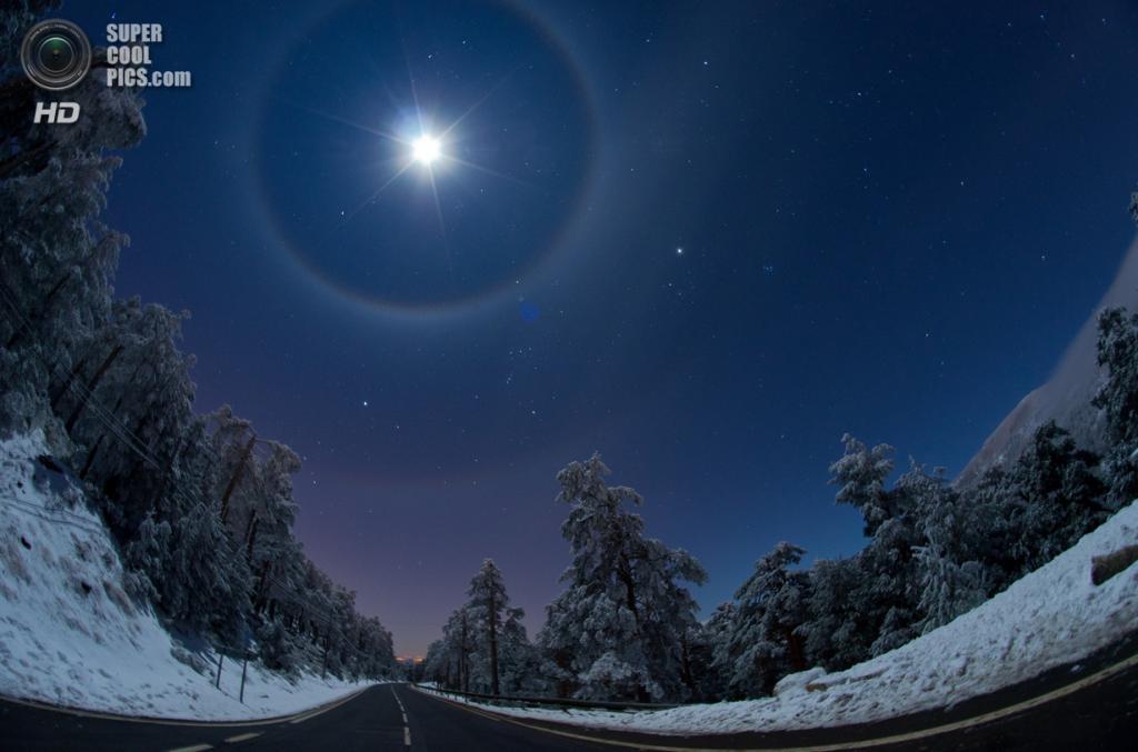 «Учетверённое лунное гало». Призёр в номинации «Земля и космос». (Dani Caxete/Astronomy Photographer of the Year)