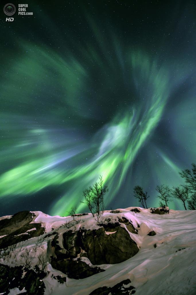 «Зелёная энергия». Призёр в номинации «Земля и космос». (Fredrik Broms/Astronomy Photographer of the Year)