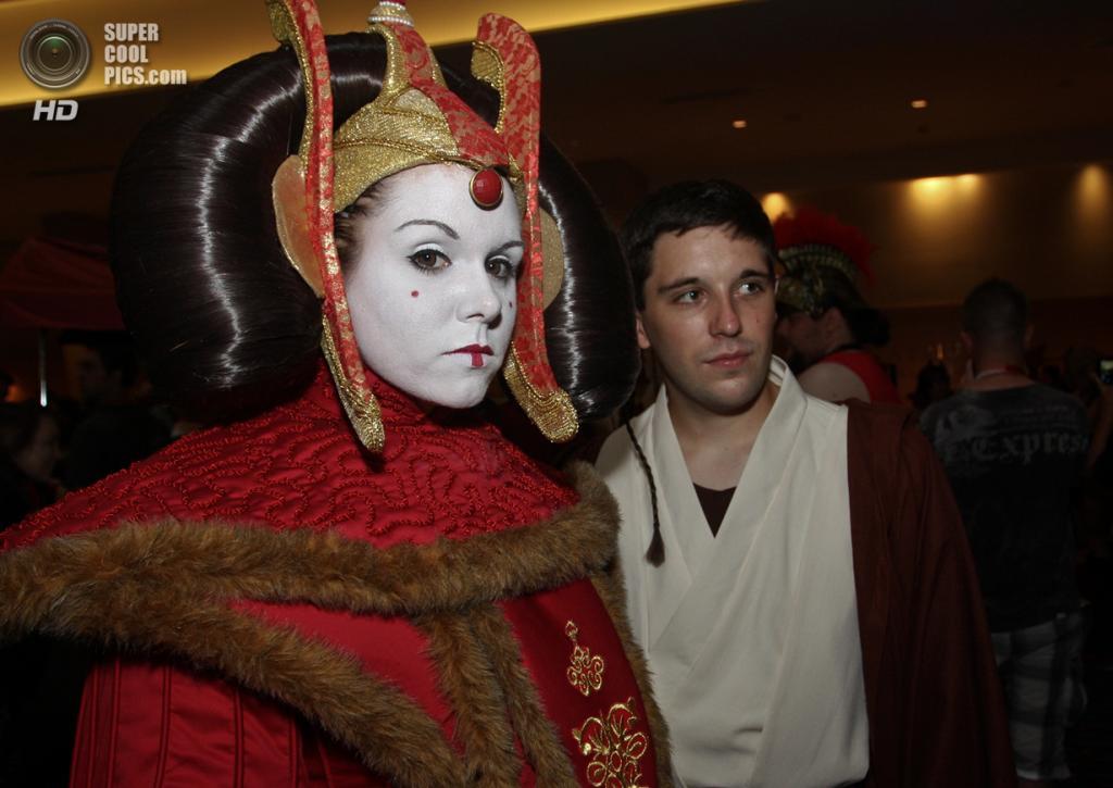 США. Атланта, Джорджия. 31 августа. На ежегодном съезде фанатов научной фантастики и фэнтези Dragon Con. (AP Photo/Ron Harris)