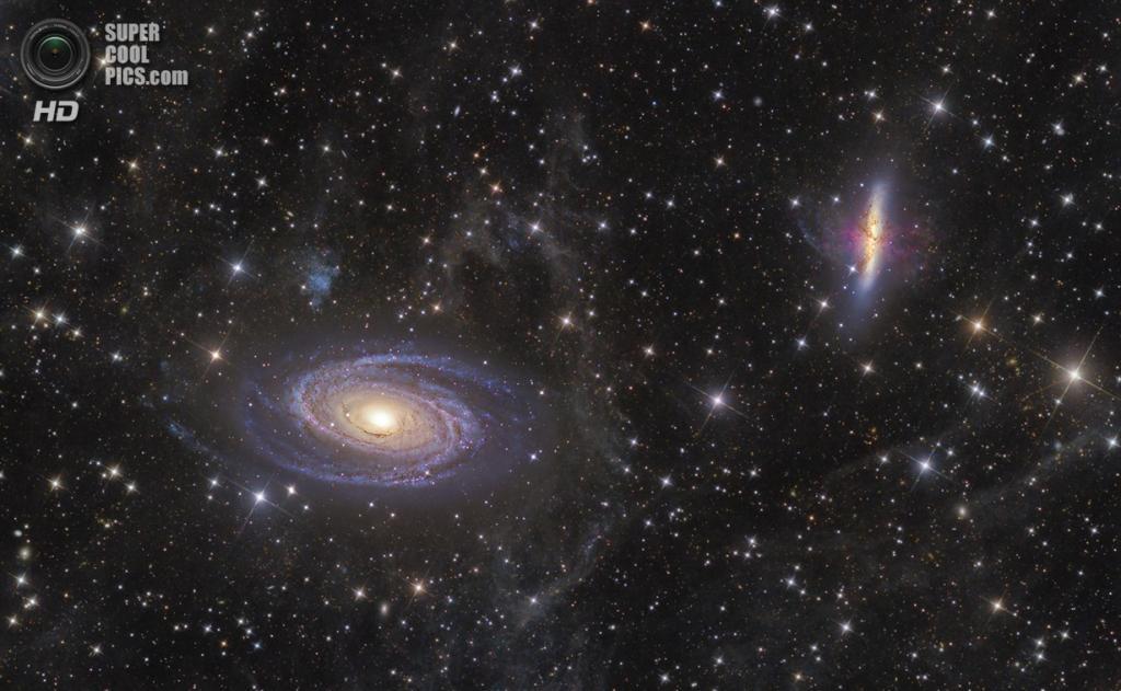 «M81-82 и интегрированная Галактика Поток». Призёр в номинации «Глубокий космос». (Ivan Eder/Astronomy Photographer of the Year)