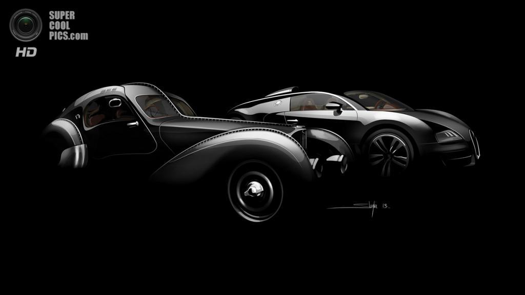 Bugatti Type 57SC Atlantic и Bugatti Veyron 16.4 Grand Sport Vitesse «Jean Bugatti». (Bugatti)