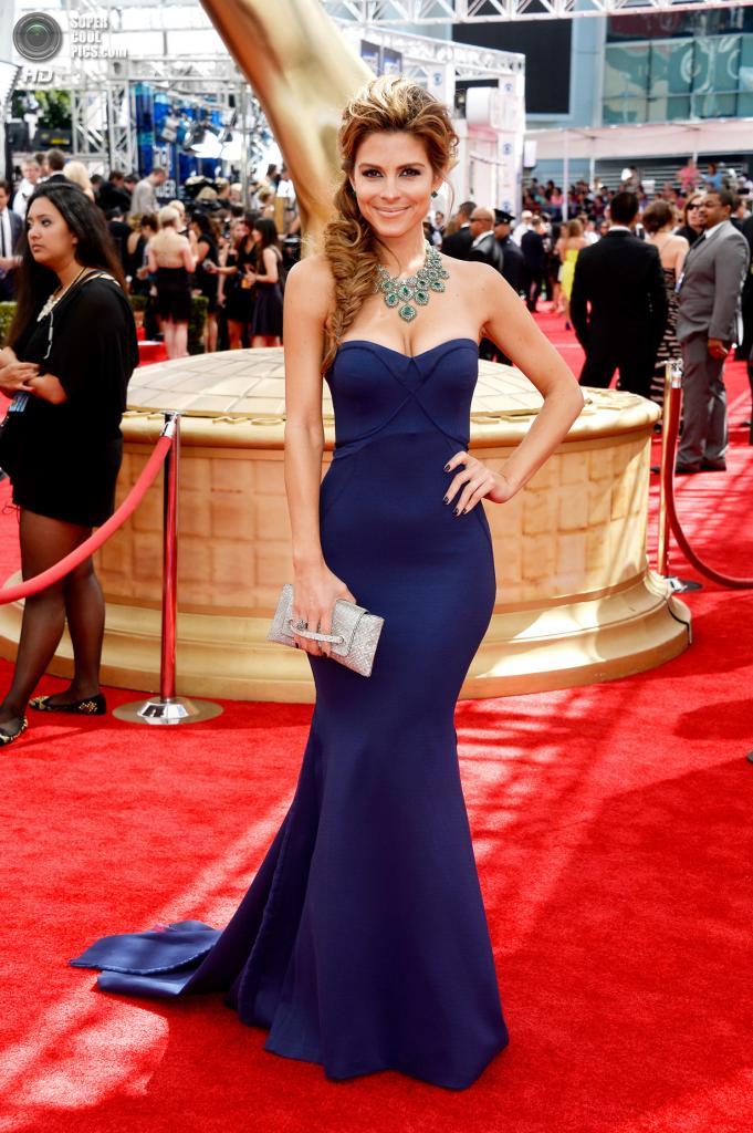 США. Лос-Анджелес, Калифорния. 22 сентября. Мария Менунос в платье от Zac Posen. (Getty Images)