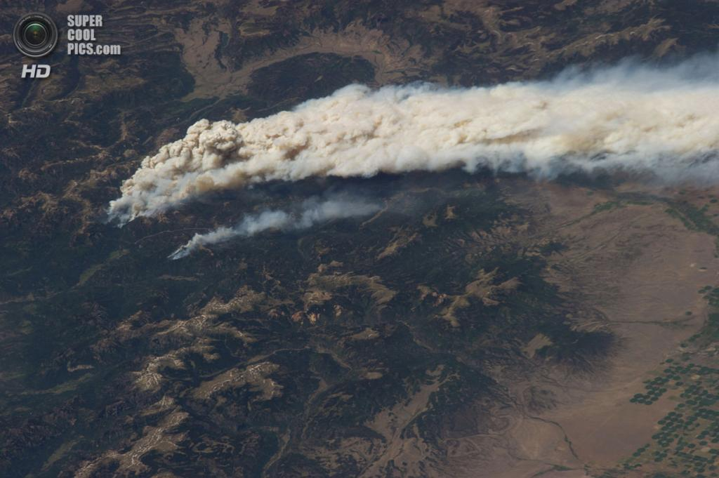 Лесной пожар в штате Колорадо. (NASA)