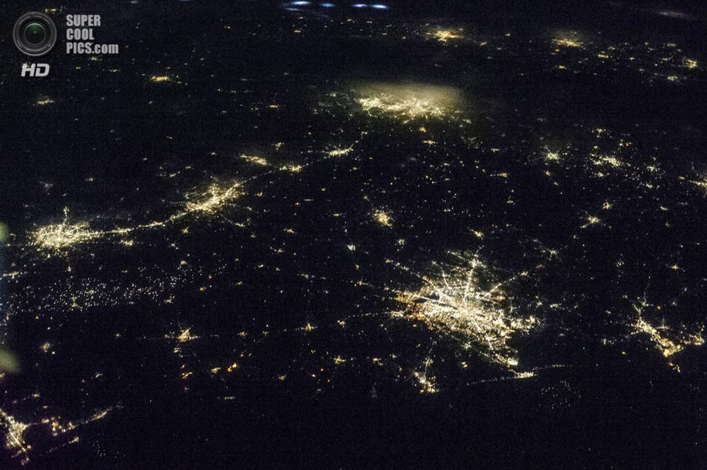 Ночные огни Техаса. (REUTERS/NASA)
