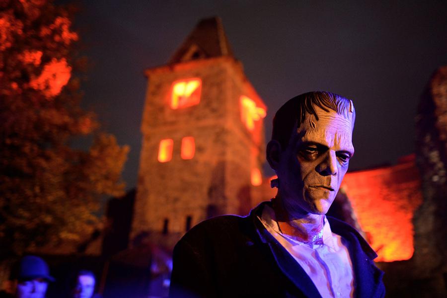 Вечеринка у замка Франкенштейна (20 фото)