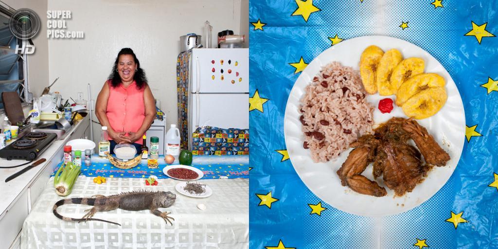 Каймановы острова. Блюдо: Игуана с рисом и бобами. (Gabriele Galimberti)