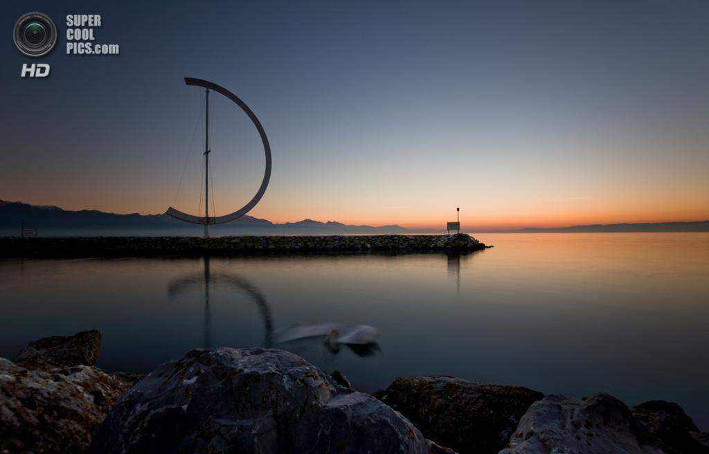 Швейцария. Женевское озеро. (B. Bächtold)