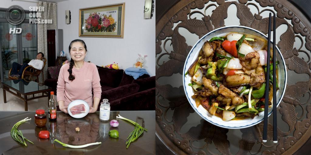 Китай. Чунцин. Блюдо: Свинина с овощами. (Gabriele Galimberti)