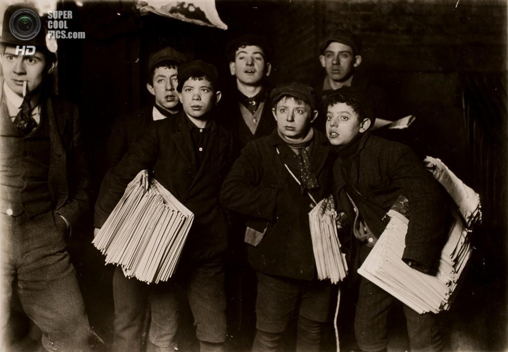 «Полночь на Бруклинском мосту», 1906 год. (Lewis W. Hine/George Eastman House Collection)