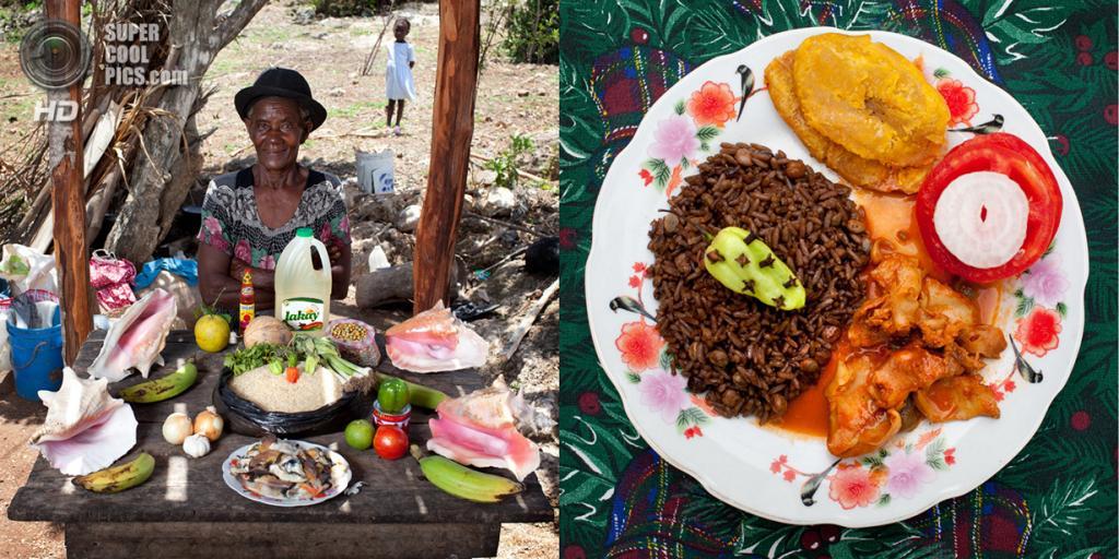 Гаити. Saint-Jean du Sud. Блюдо: Моллюски под креольским соусом. (Gabriele Galimberti)