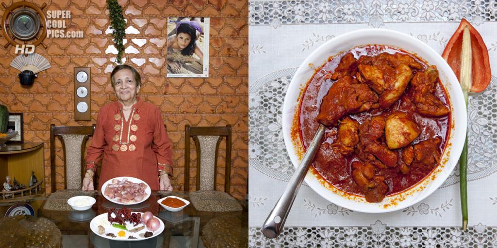 Индия. Мумбаи. Блюдо: Куриное виндалу. (Gabriele Galimberti)