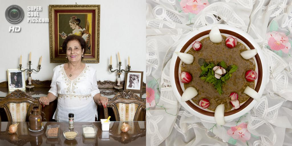 Ливан. Бейрут. Блюдо: Рисово-чечевичный крем-суп. (Gabriele Galimberti)