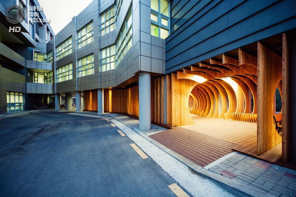 Южная Корея. Сеул. Место отдыха для студентов Университета Сеула, спроектированное UTAA. (Kim Yong-soon)
