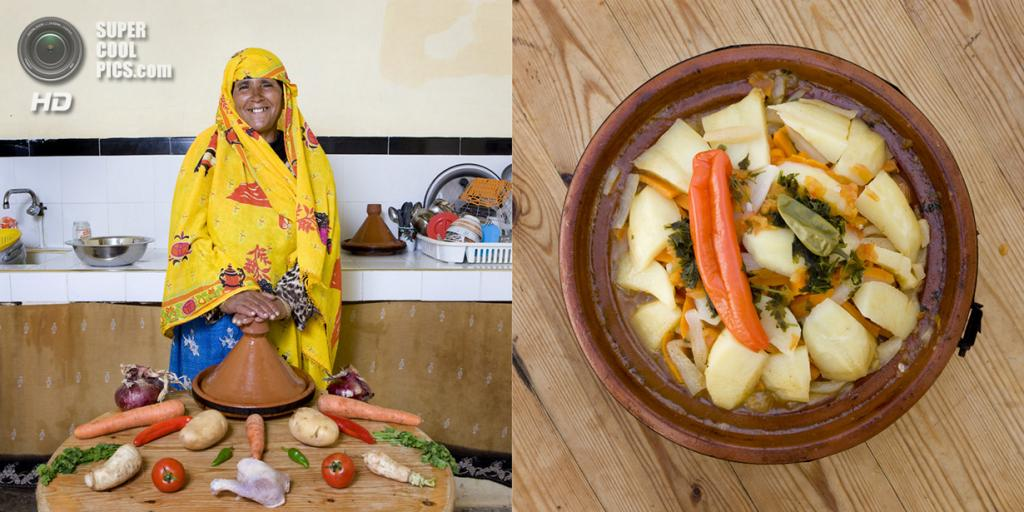 Марокко. Сус-Масса-Драа. Блюдо: Таджин с курицей. (Gabriele Galimberti)