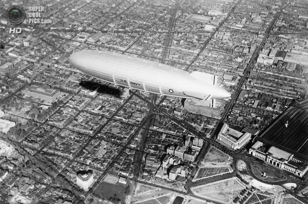 США. Вашингтон. 1931 год. Дирижабль-авианосец «Акрон». (AP Photo)