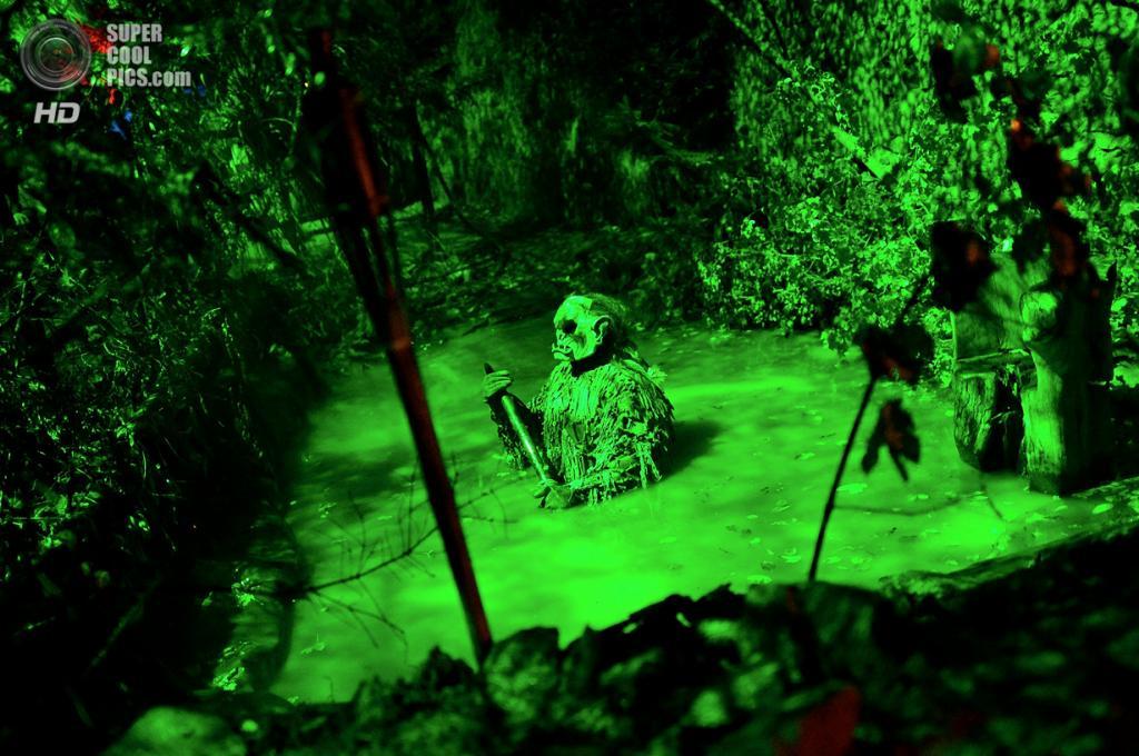 Германия. Дармштадт, Гессен. 19 октября. Посетители замка Франкенштейна на вечеринке в честь Хэллоуина. (Thomas Lohnes/Getty Images)