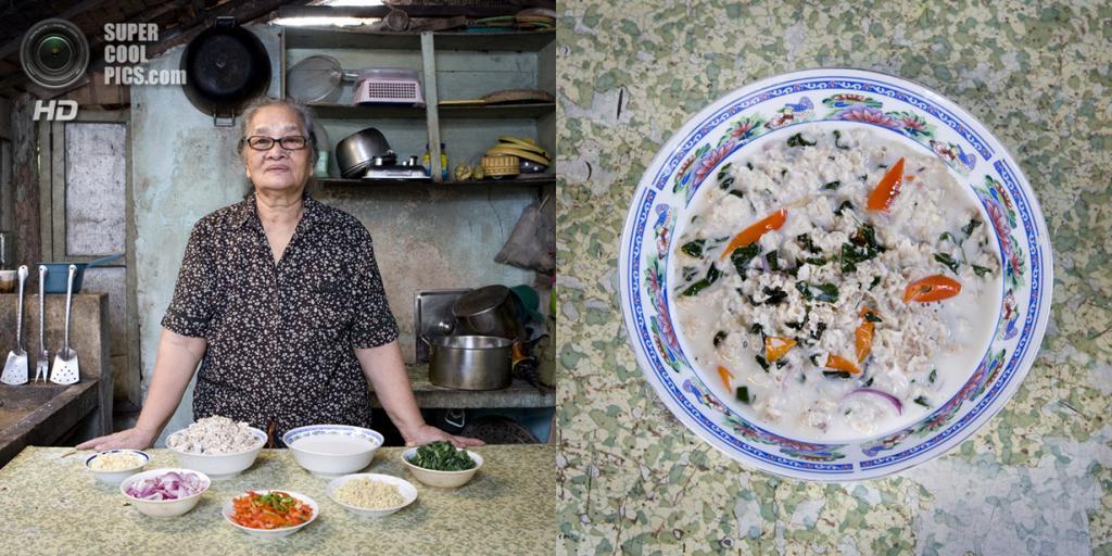 Филиппины. Эль-Нидо. Блюдо: Кокосовый суп с мясом акулы. (Gabriele Galimberti)