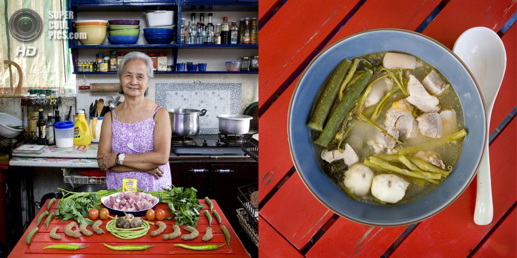 Филиппины. Манила. Блюдо: Тамариндовый суп со свининой и овощами. (Gabriele Galimberti)