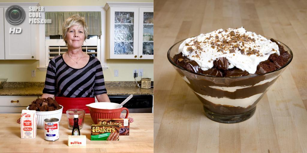 США. Юта. Блюда: Шоколадный десерт с ирисом. (Gabriele Galimberti)